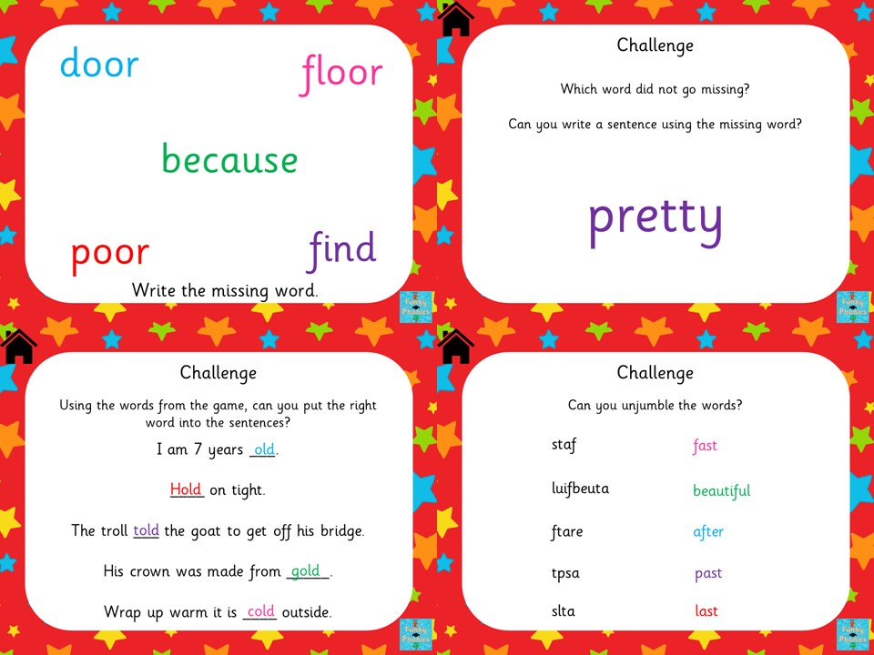 Year 2 Common Exception Words - Kym's Game