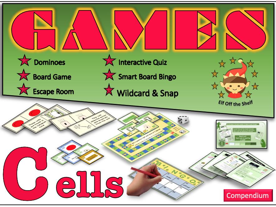 Plant and Animal Cells- Games Compendium KS3   Teaching ...