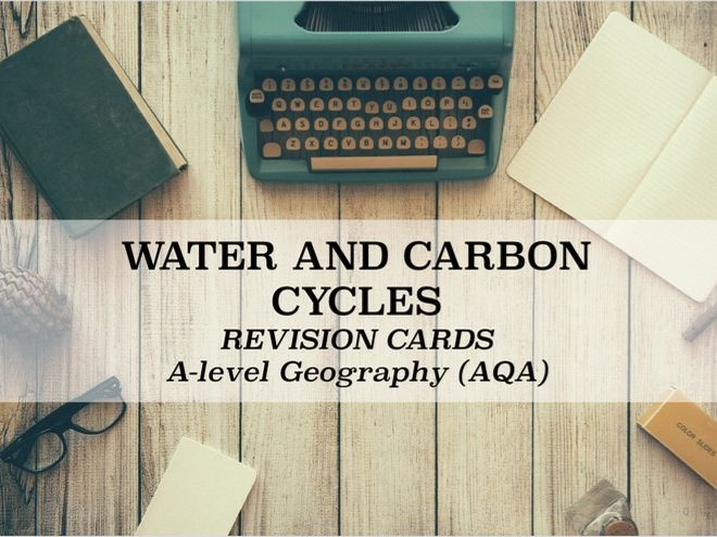 WATER AND CARBON CYCLES FLASHCARDS: AQA
