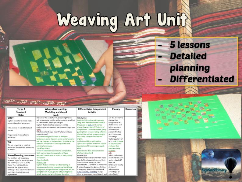WEAVING Art Unit - 5 Outstanding Lessons