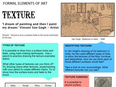 Texture - Formal Elements of Art 7