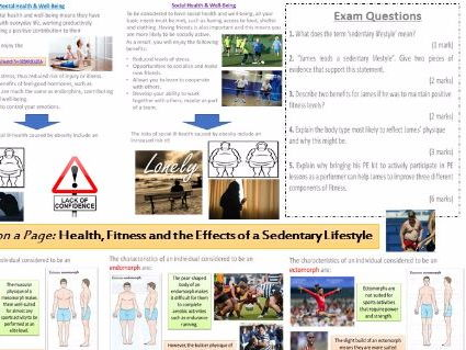 James on a Page! Health, Fitness and Effects of a Sedentary Lifestyle - Revision for 48903 Exam