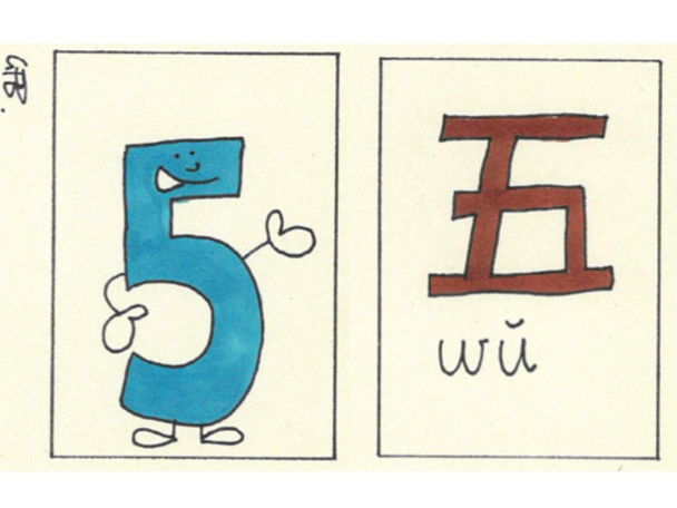 Chinese Number Cards - 1 to 20