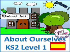 PRIMARY KS2/3 SPANISH (6 lessons+audio): greetings,name,describing ourselves, age, colours, nos 1-12