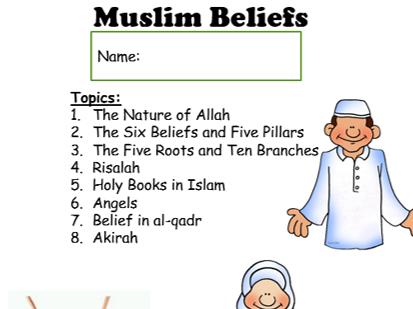Lower Ability Muslim Beliefs Workbook