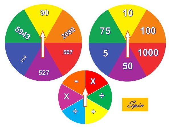 Interactive random spinners decision makers