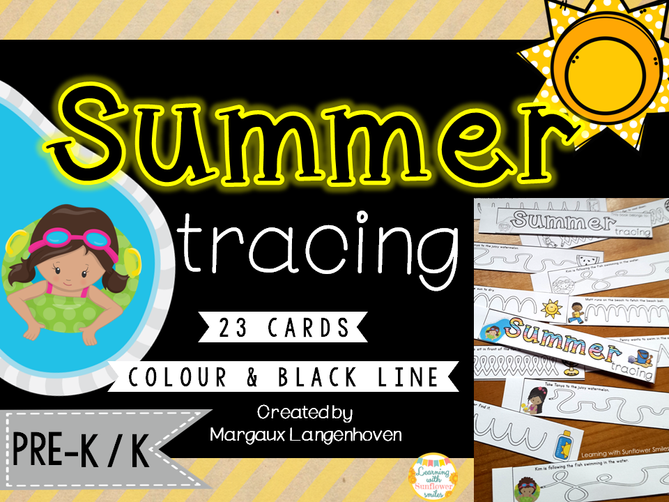 Summer Tracing (Fine Motor and Vocabulary Development)