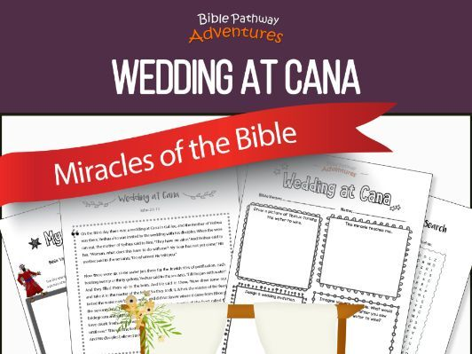 Bible Miracles: Wedding at Cana workbook FREEBIE