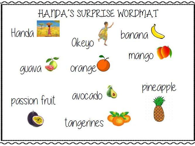 Handa's Surprise Word Mat