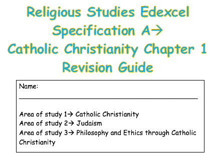 RS Catholic Christianity Edexcel Spec A Chapter 1