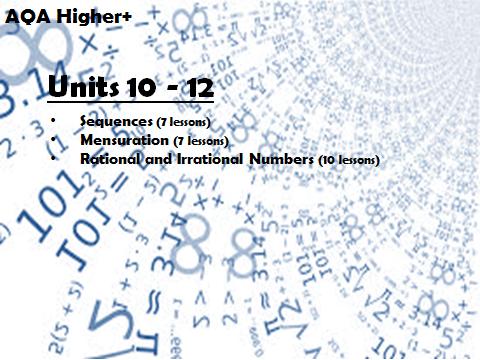 AQA GCSE Higher+ Units 10-12