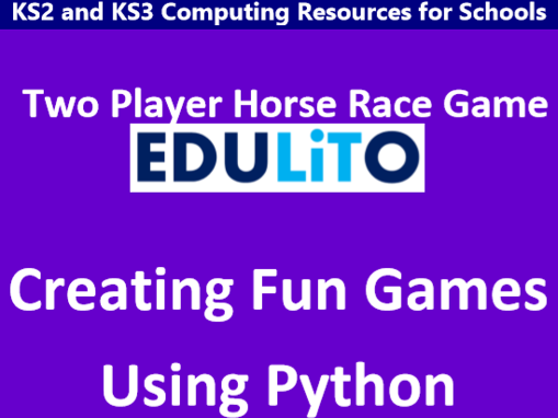 Creating Fun Games Using Python - Two Player Horse Race Game