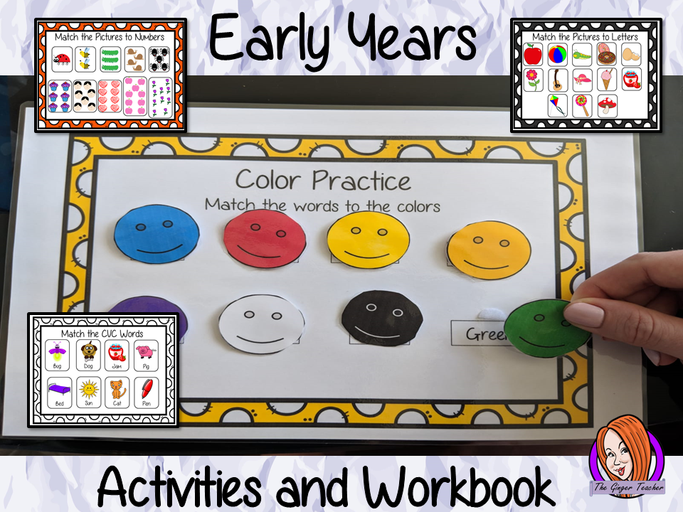 Early Years Workbook and Activities for EYFS, Kindergarten and Pre-K