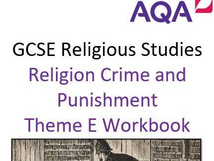 GCSE AQA 9-1 RELIGIOUS STUDIES THEME E CRIME AND PUNISHMENT WORKBOOK