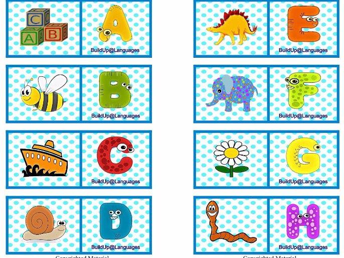 ABC Español domino