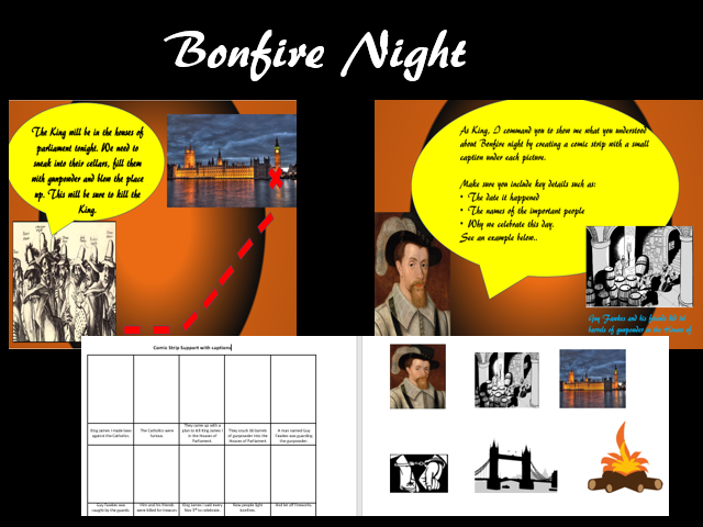 Bonfire Night: Powerpoint and Activity