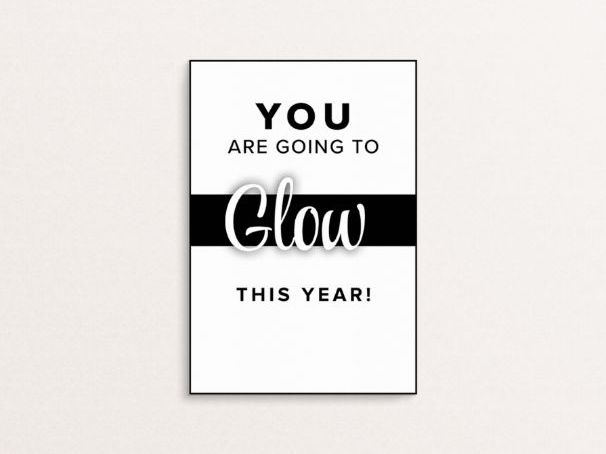 You are going to glow this year - A6 Handout