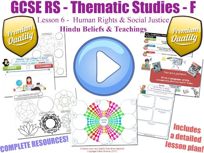 GCSE Hinduism - Human Rights & Social Justice - Unit Overview (Religious Studies - L6/7)