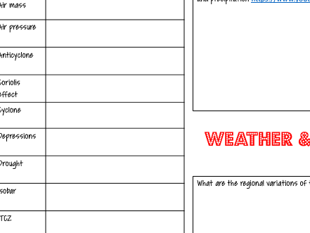 WJEC EDUCAS B Geography Weather & Climate Revision KO
