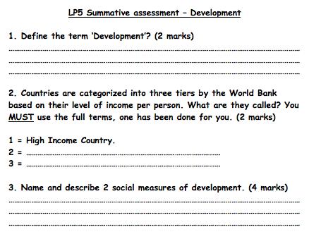 KS3 Development - Assessment
