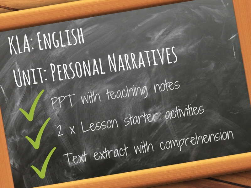 Personal Narratives - Modality and Purpose - PPT and Activities