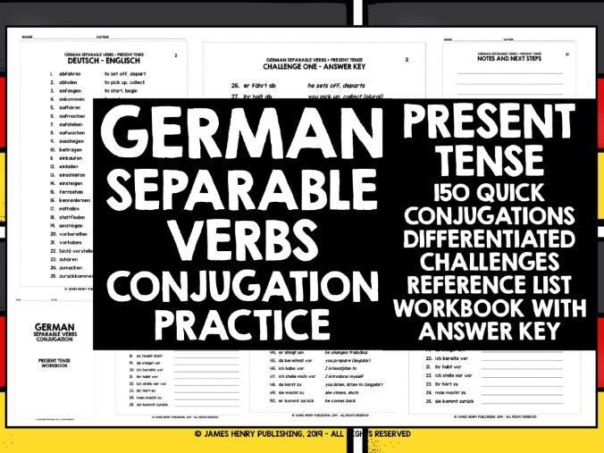 GERMAN SEPARABLE VERBS CONJUGATION #1