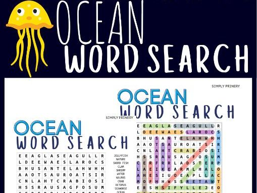 Ocean Day Word Search