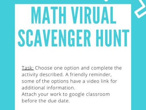 Math: Scavenger Hunt. Reviewing Fractions, Ratios and Circle Geometry