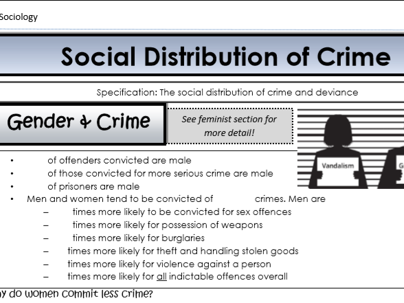 AQA Sociology - Year 2 - Crime & Deviance - Social groups and crime