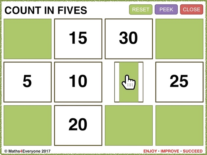 Times Tables 2s, 5s and 10s (Interactive Whiteboard Game)