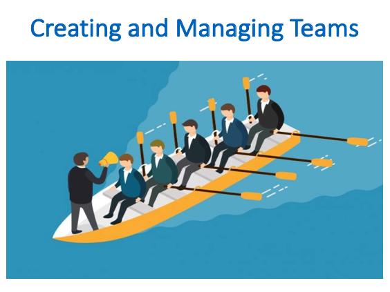 Creating and Managing Teams (Management)