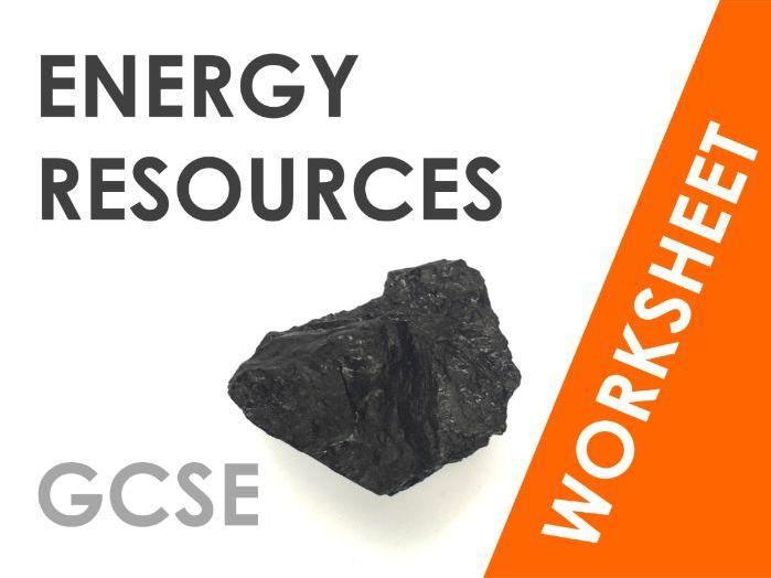Energy Resources - Worksheet