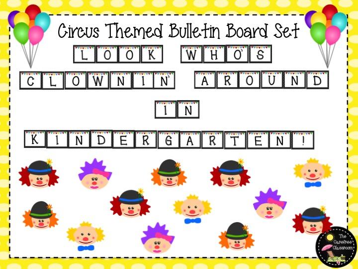 Bulletin Board Set: Circus Theme Back To School Set