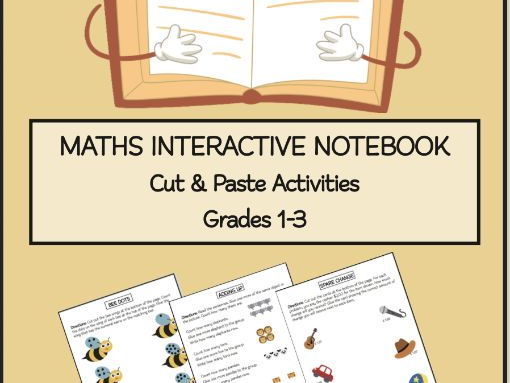 Maths Cut & Paste Interactive Activity Book grades 1-3