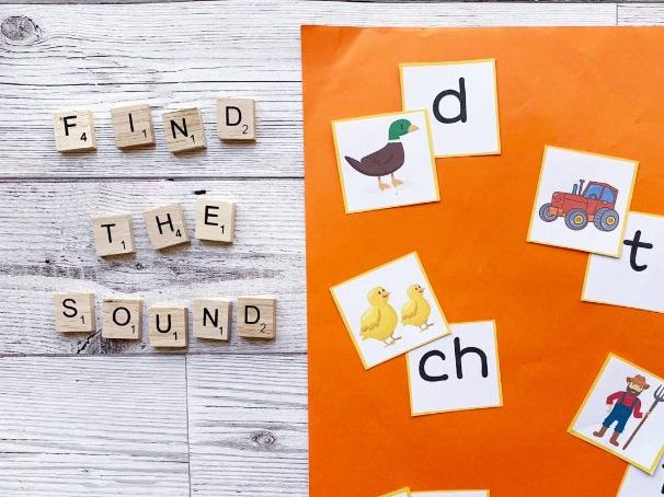 Farm themed initial sound match activity