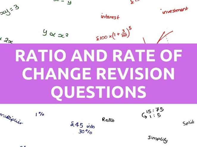 GCSE Ratio and Proportion Questions