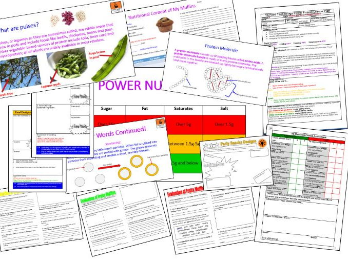 The Complete Y8 Cookery and Nutrition Power Project (Updated March 2017)