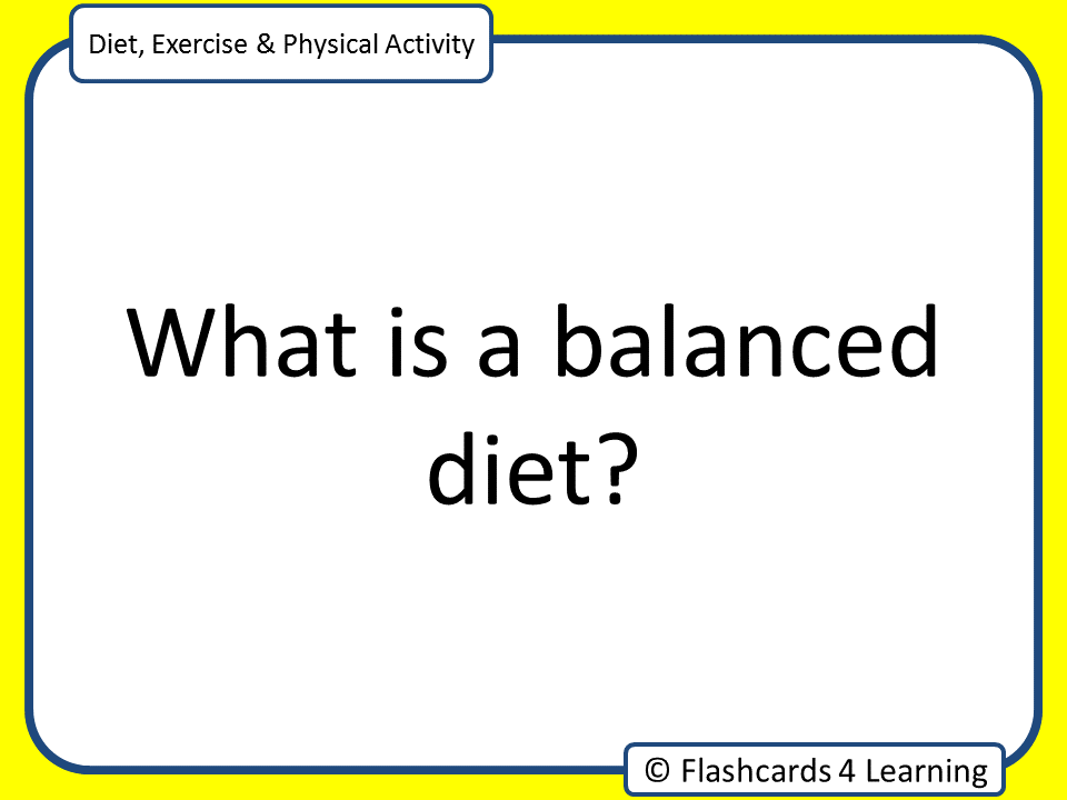 GCSE PE: Diet & Nutrition - Question & Answer Cards