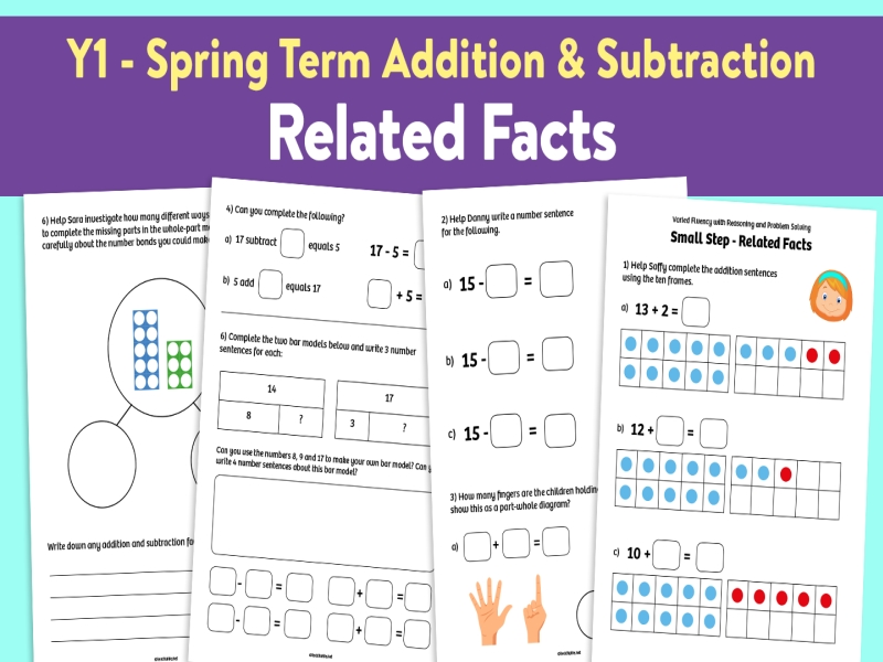 Related Facts activities: Y1 Spring Term, Block 1 – Addition and Subtraction