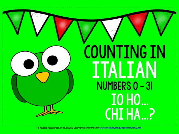ITALIAN FOR CHILDREN - NUMBERS 0-31 - I HAVE, WHO HAS? GAME