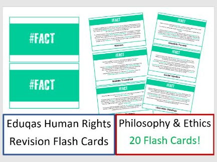 GCSE Religious Studies: Human Rights Revision Cards