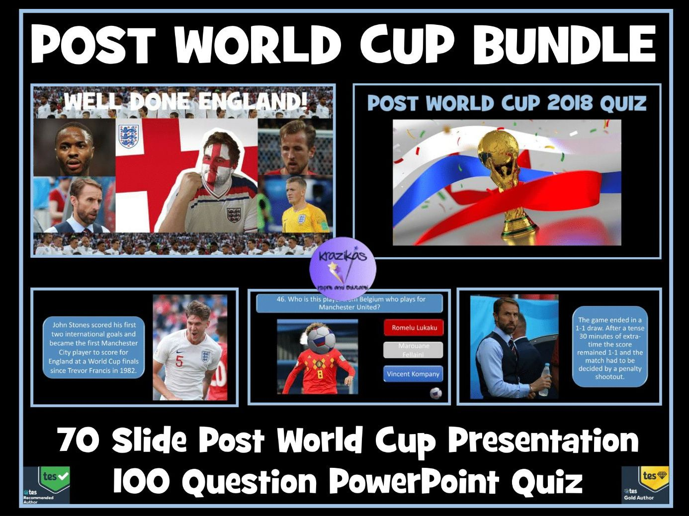 Post Football World Cup Bundle: Presentation and 100 Question Quiz