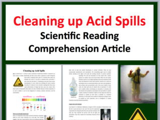 Cleaning up Acid Spills Comprehension Reading KS3 and KS4