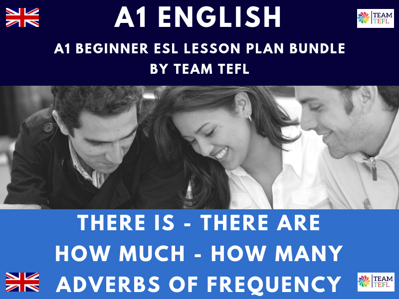There Is - There Are / How Much - How Many / Adverbs Of Frequency A1 Beginner English Lesson Plan Bundle