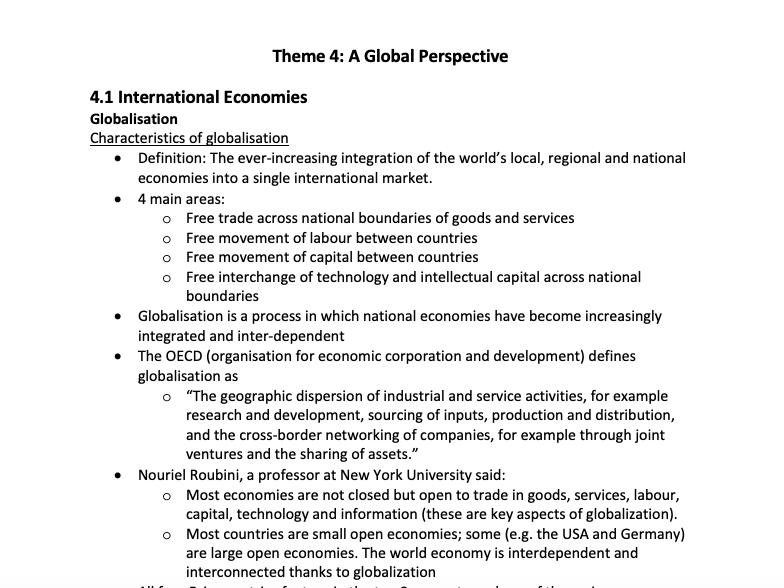 Theme 4 Economics A-Level (Edexcel)