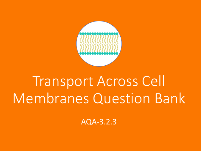 AQA AS Biology Transport Across Cell Membranes Question Bank (3.2.3)