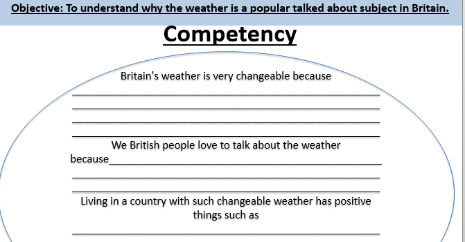 Geography Britain's weather