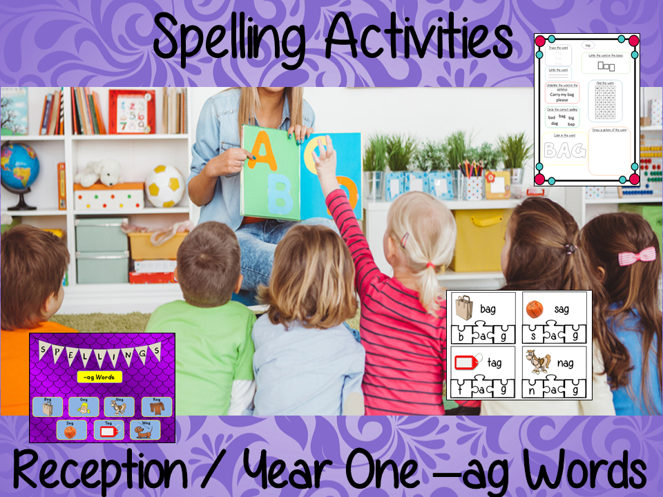 Spelling Activities for –ag Words Reception