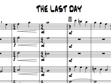 The Last Day for Flute Choir (4 flutes plus alto)
