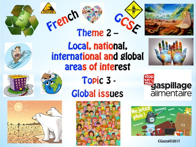 French New GCSE Theme 2 – Local, national, international and global areas... Topic 3 - Global Issues